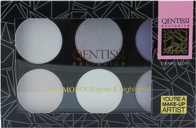 Qentissi Make-up Highlight Palette Cool Colors - 28 g